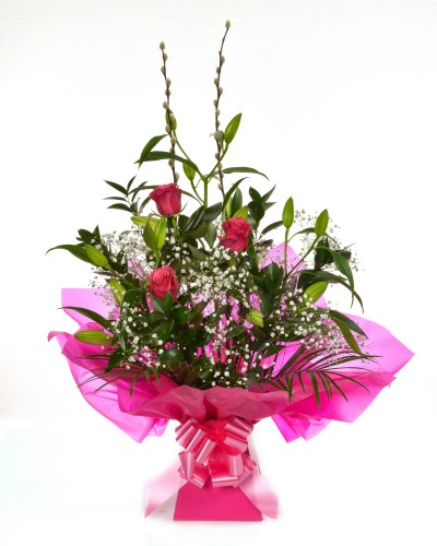 Stunning Lily & Rose Arrangement (Pink)