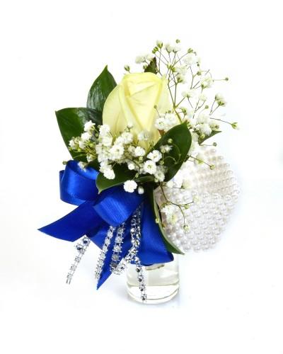 Royal Blue Wrist Corsage