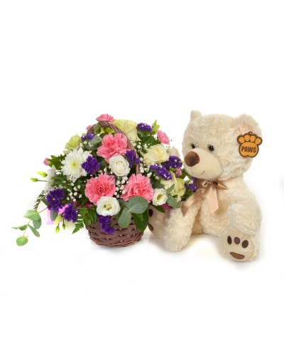 Basket Arrangement and Teddy selection