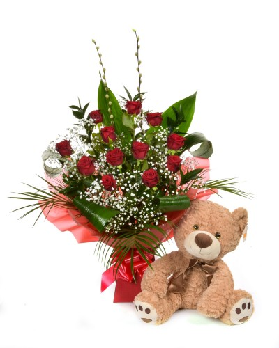 Dozen Red Rose Gift Pack