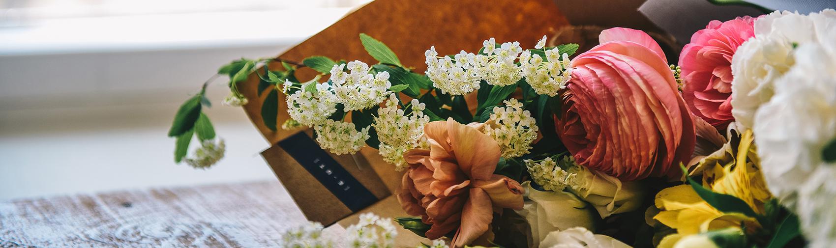 Beautiful fresh flowers presented by Belles Fleurs